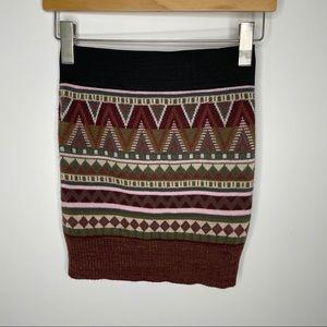 🎁4/20$🎁 knitted boho mini skirt